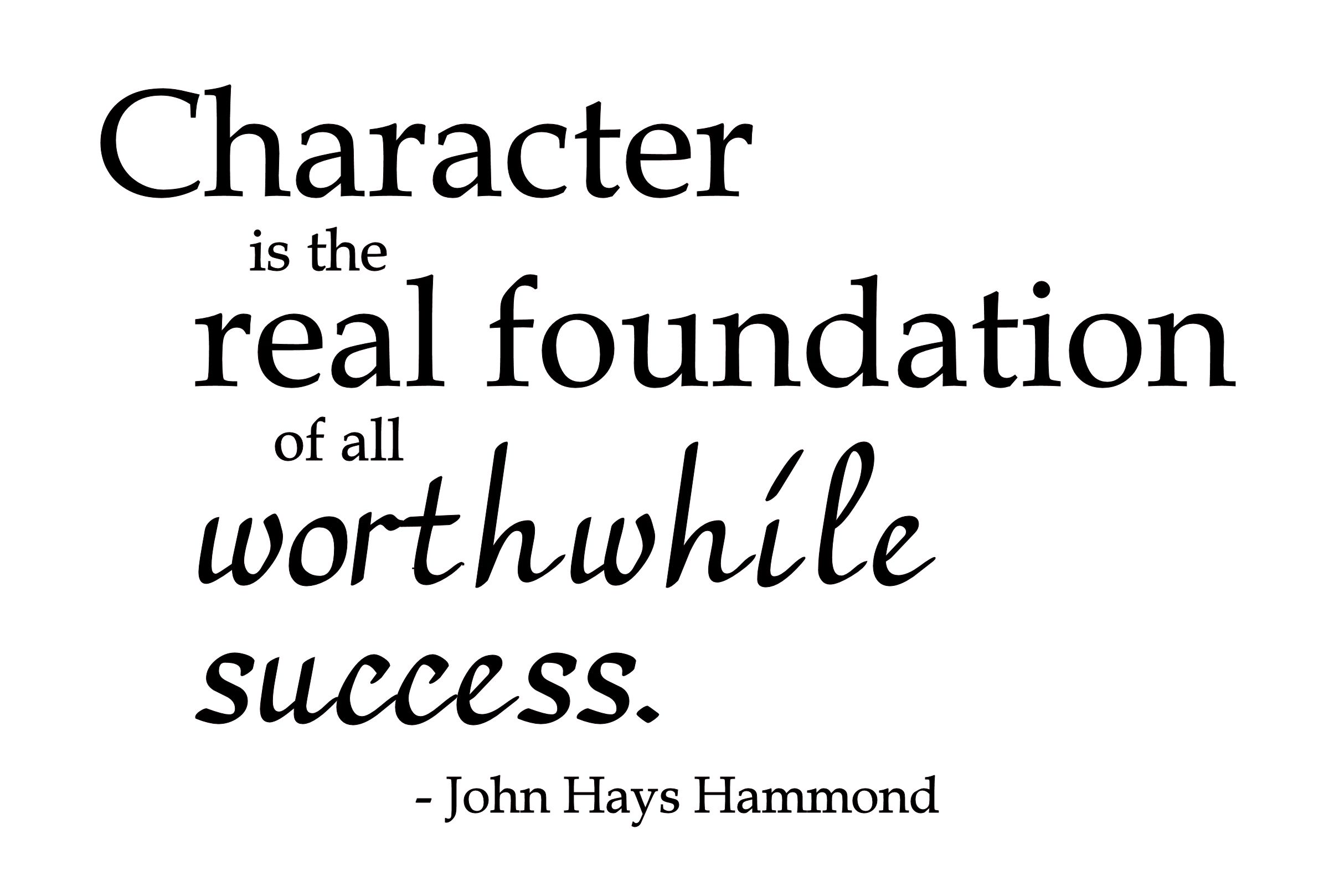 The Importance Of Character In Attracting Success