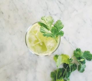 Cilantro Lemonade (sugar-free)