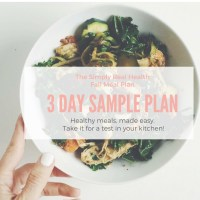 FREE GIFT! 3 Day Sample of the Fall Meal Plan (download now)