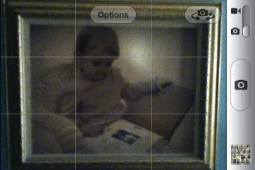The camera software is serviceable. The iPod's camera is lousy.
