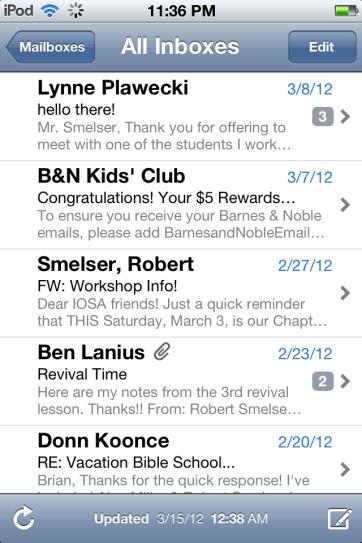 The default Mail app.