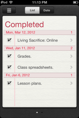 Reminders. Looks good and syncs with iCal.