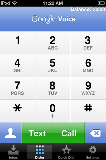 Dial just like you are on a phone.