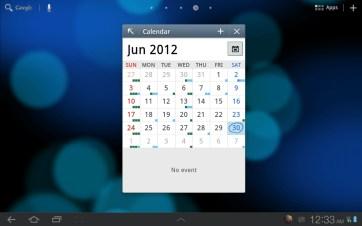 The mini calendar.
