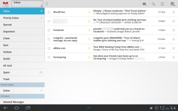 The default GMail app is clean and very functional.
