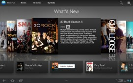 Media Hub also features a selection of television episodes.