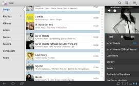 The stock music app.