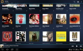Music stored in Google Play Music.