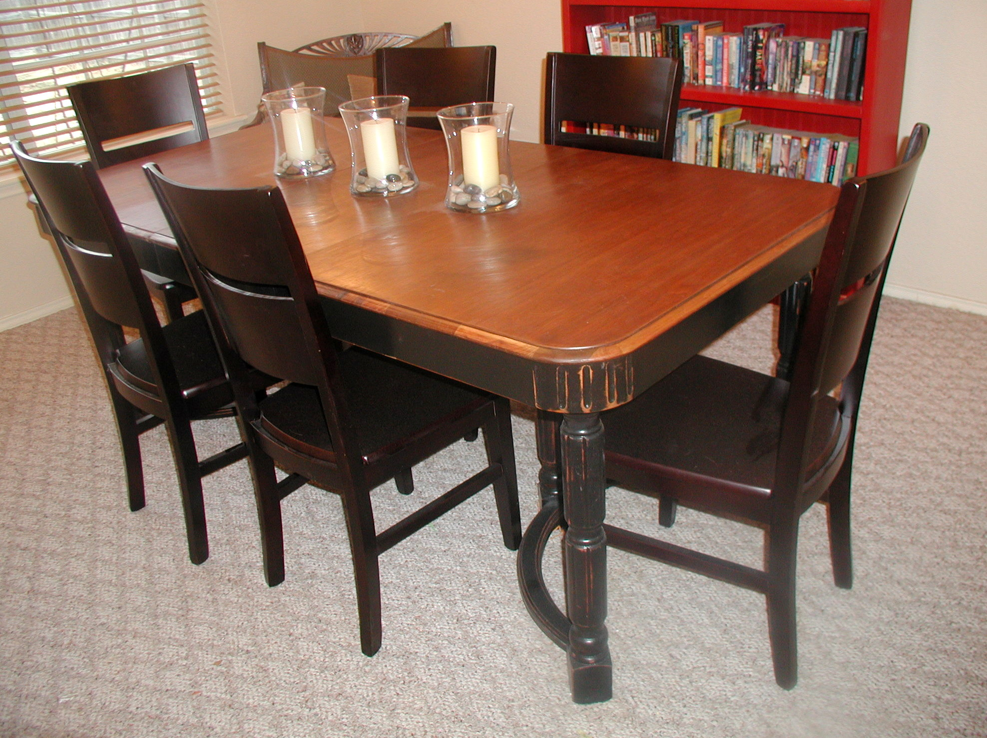 finished dining room table