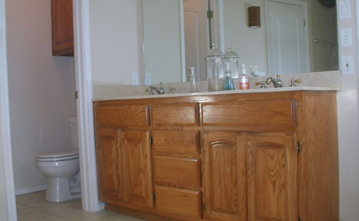 project transforming builder grade cabinets to old world ascp photos bathroom paint dark cabinets of laptop hd pics