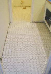 Project: tiling the bathroom floor  Front Porch Cozy
