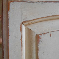 Distressed Wood Kitchen Cabinets Free Standing Pantries Using Chalk Paint For Oak Test Door