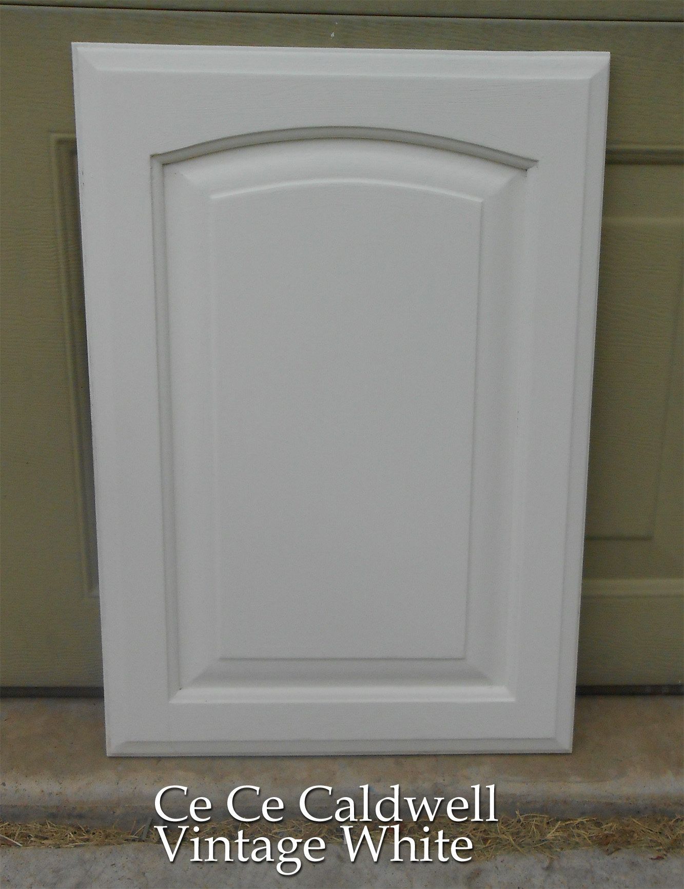 white kitchen cabinet doors islands for kitchens s final test door using chalk paint front porch cozy distressed
