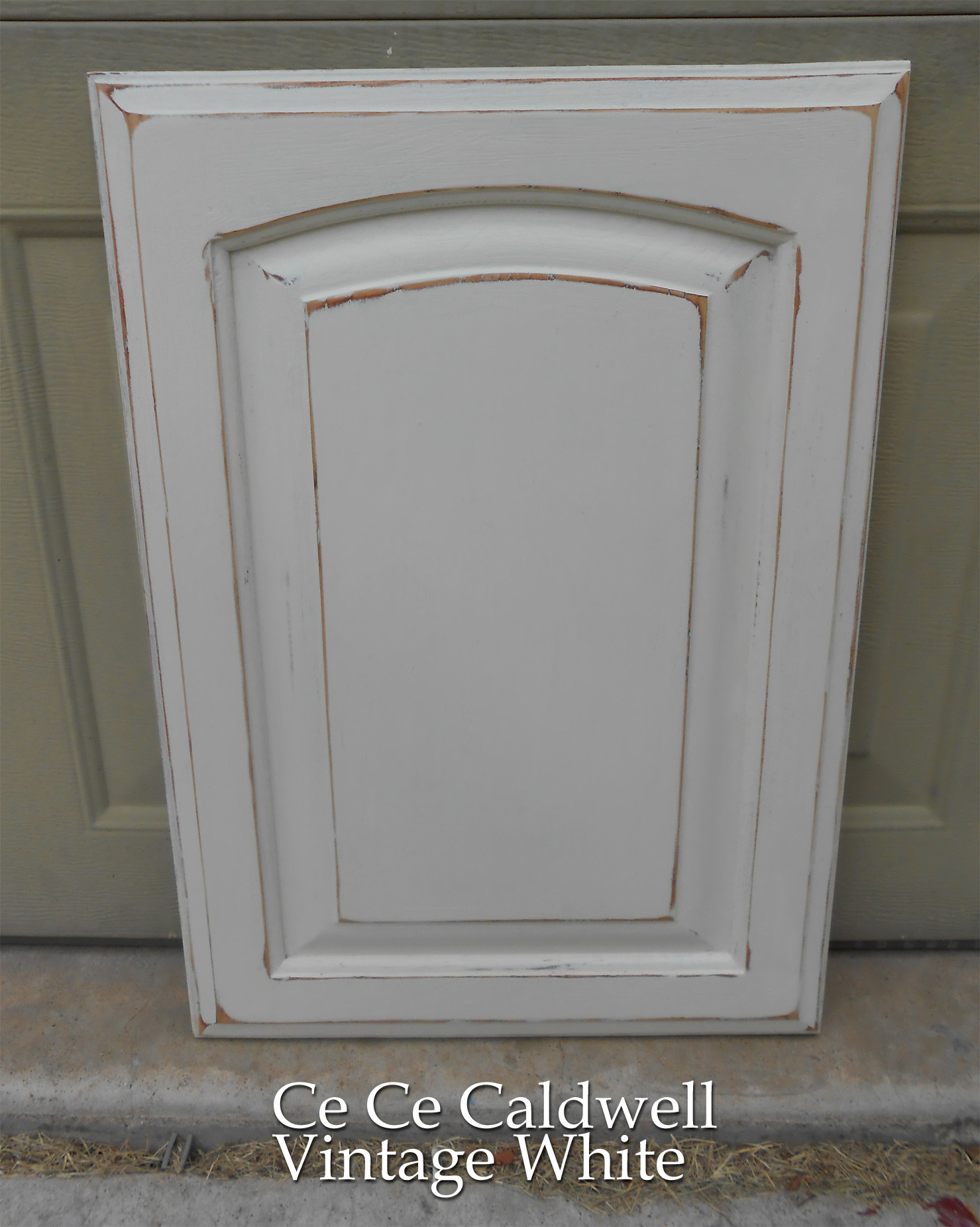 antiqued kitchen cabinets grill using chalk paint for oak test door front porch share this