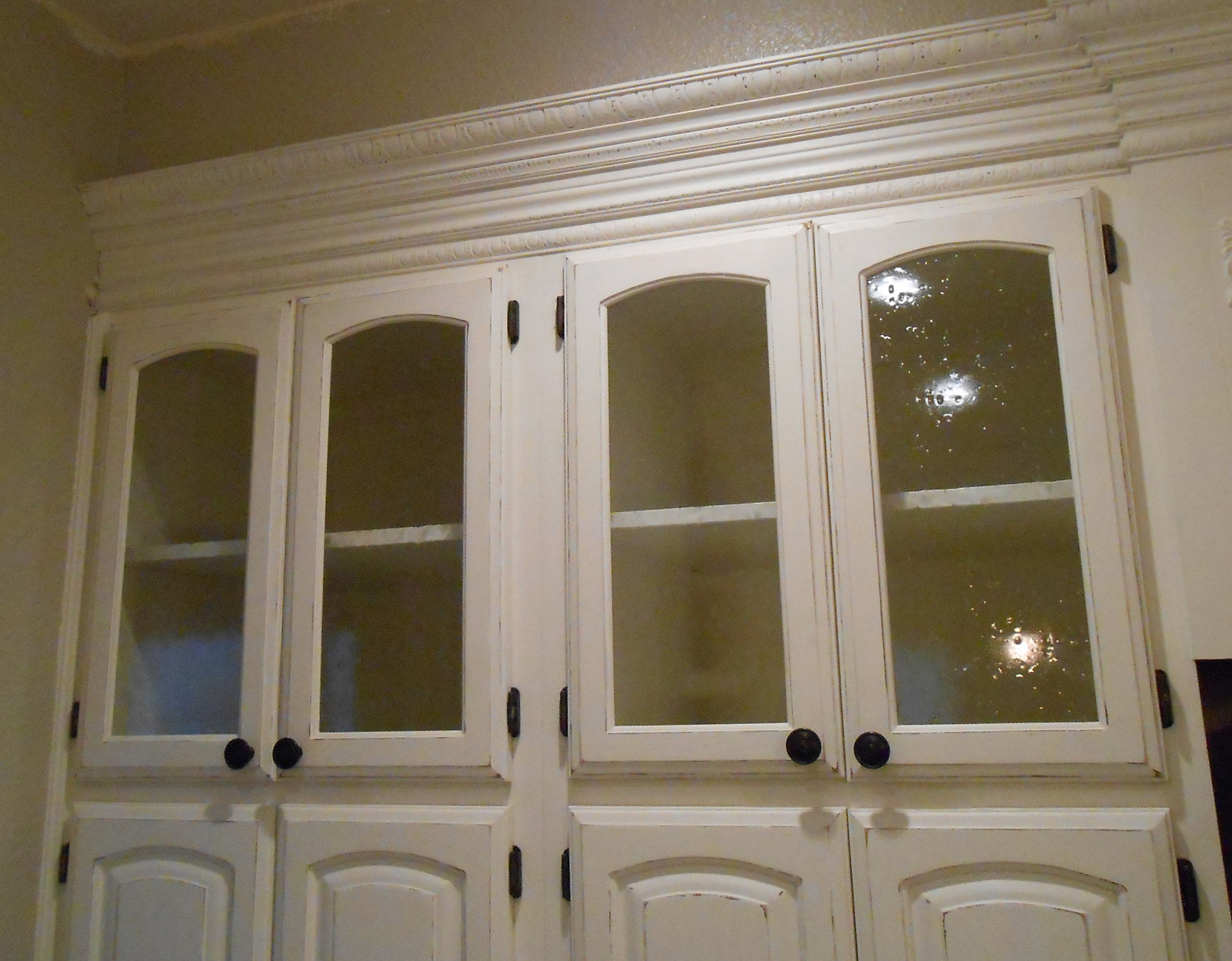 DIY Changing Solid Cabinet Doors to Glass Inserts  Simply
