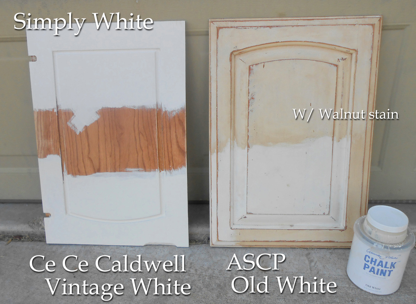Using Chalk Paint For Oak Kitchen Cabinets Test Door – Front Porch