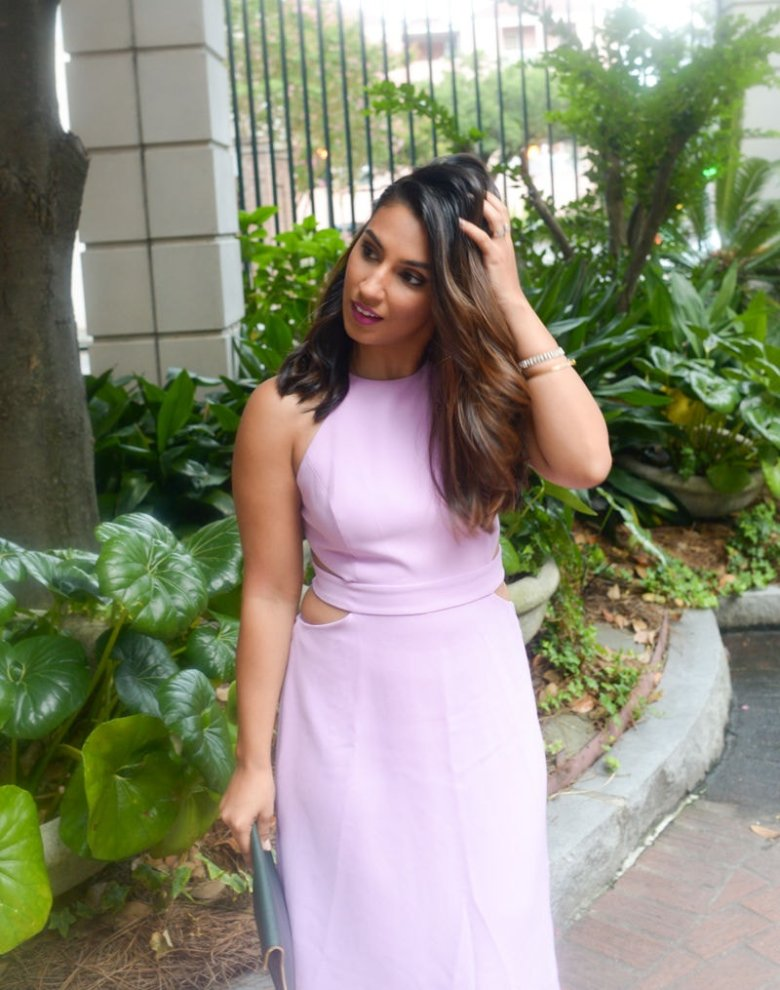 Rent The Runway Lilac Halston Heritage Dress, Baublebar Navi Studs , Loreal Blogger