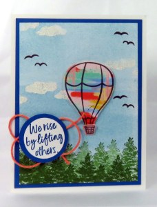 Rise By Lifting Others - Create a Hot Air Balloon Card