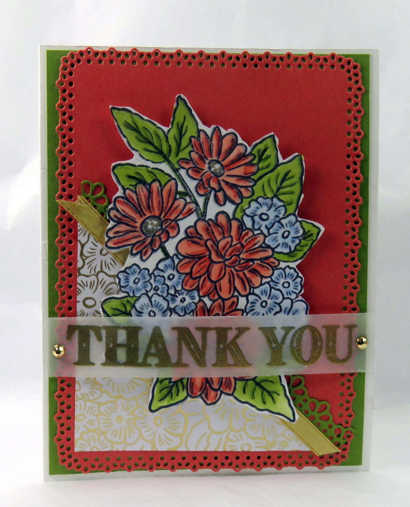 Playing Cards 1 Single Swap Card Antique Wide Non Reversible DAFFODIL FLOWERS