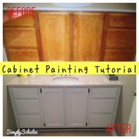 Bathroom Vanity Makeover  Cabinet Painting Tutorial ...