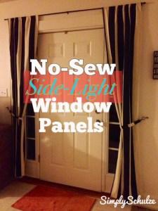 diy no sew side light window panels