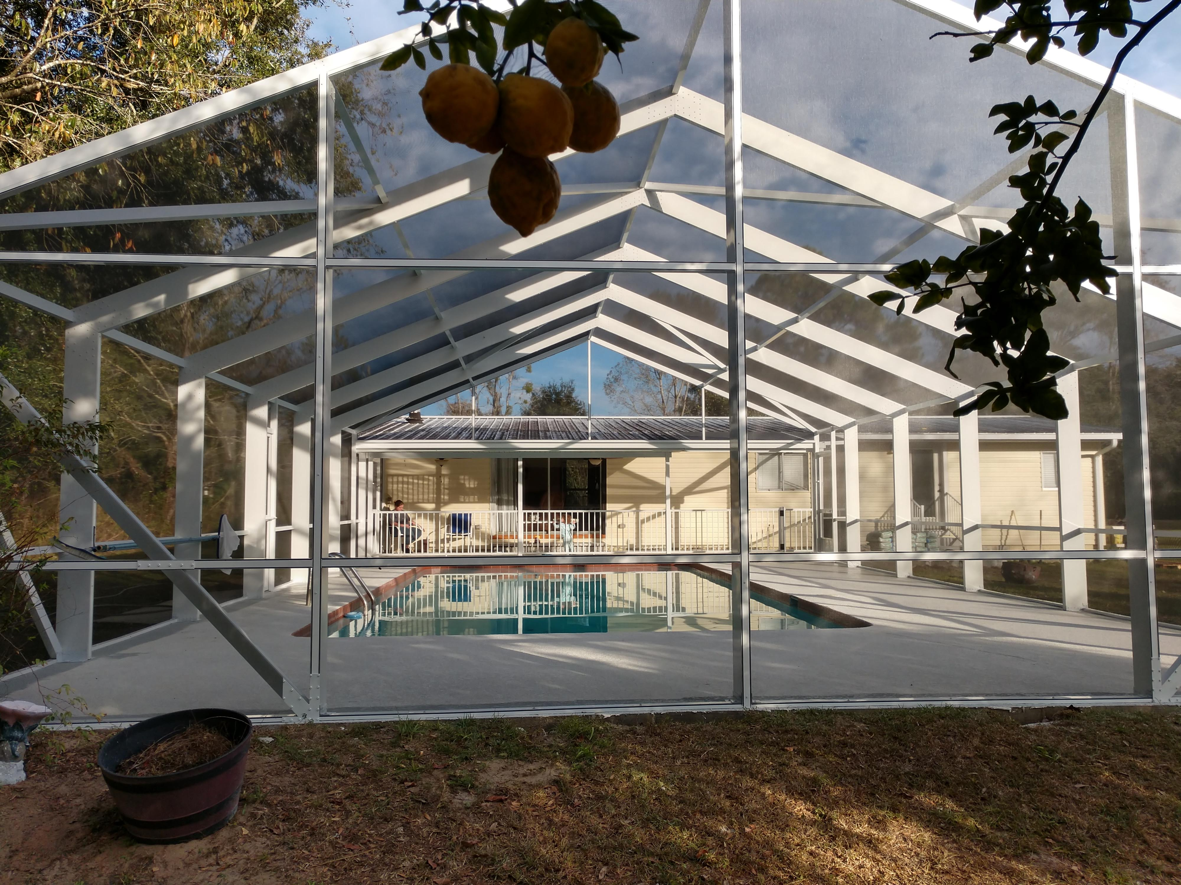 Pool Enclosure screen repair