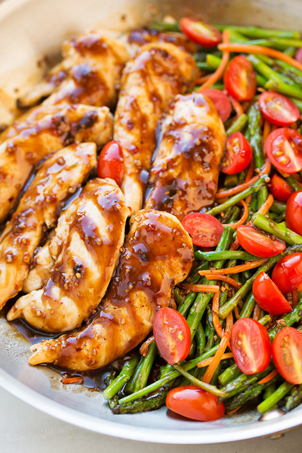 One Pan Balsamic Chicken and Veggies Dinner Recipe via Cooking Classy