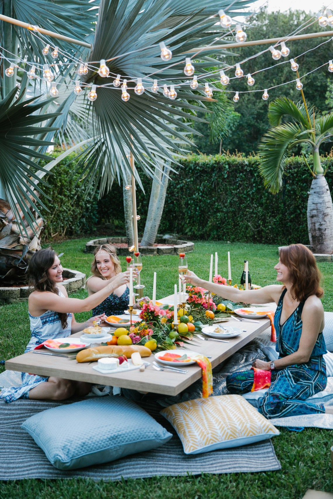 This backyard dinner party was magical. Check out this boho chic dinner party!