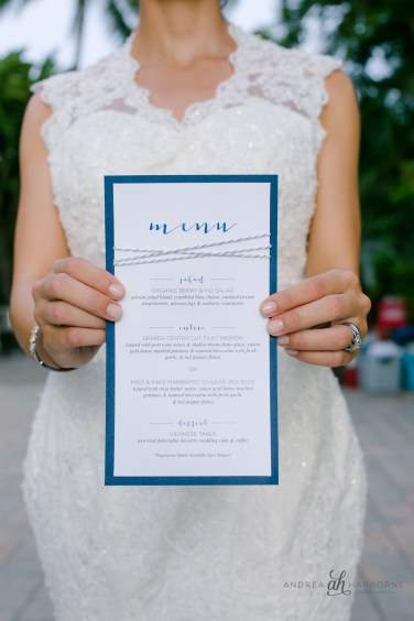 Simply Sianne Calligraphy and Design - Menu Cards - Nautical Wedding