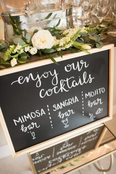 Simply Sianne Calligraphy and Design - Hand Lettered Design Services - Cocktail Hour Sign