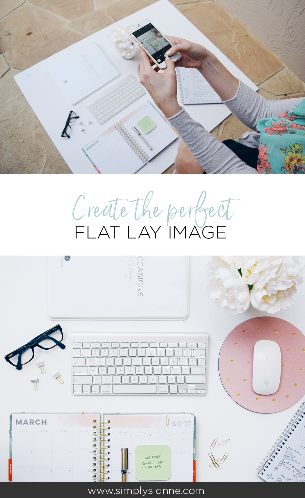 How to create the perfect flat lay image with 4 simple steps