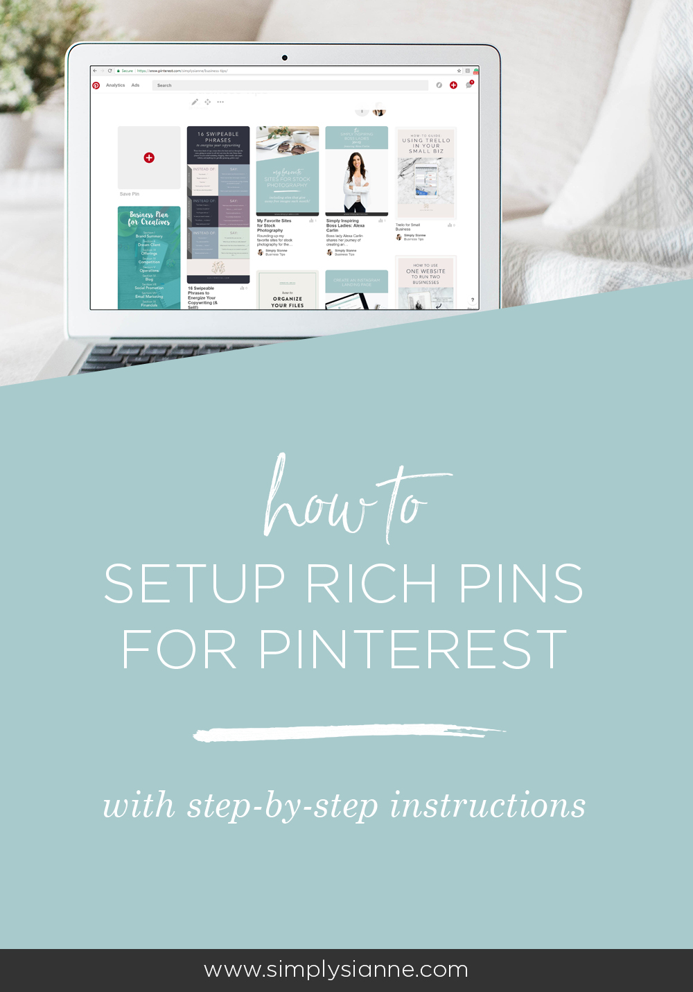 Pinterest is a powerful tool that should be used for your creative business. Get the most out of your content and this platform by enabling rich pins.