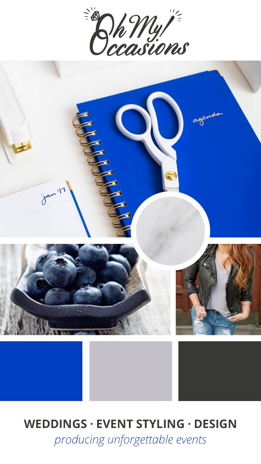 Amber hired me for branding and marketing services - before we recreated her brand image, we worked on creating a mood board
