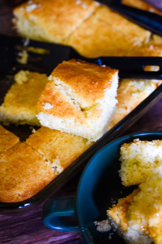 slice of cornbread