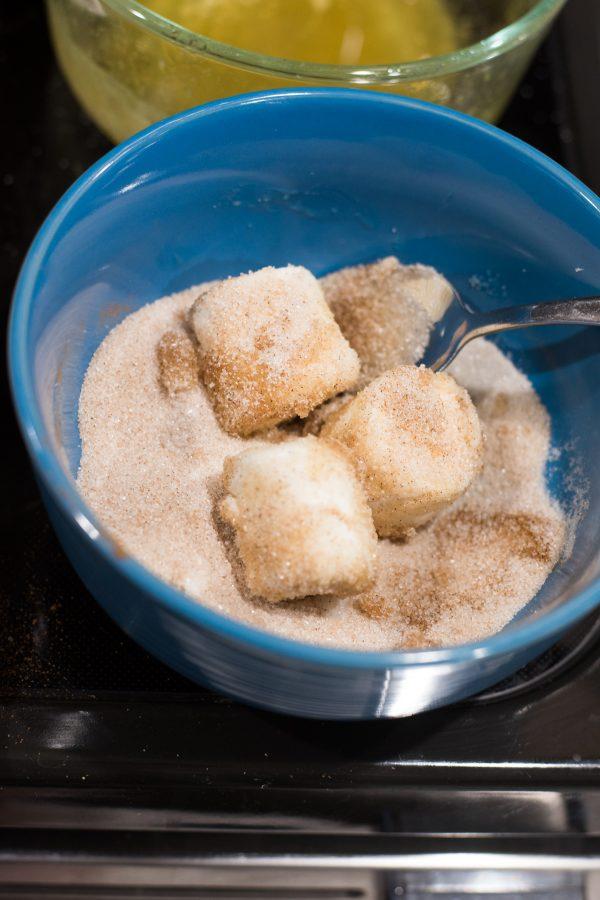 marshmallow in sugar