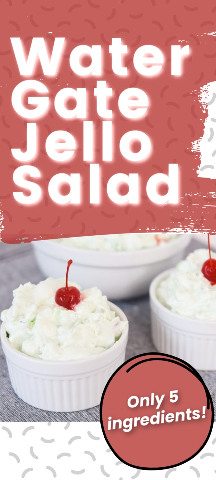 Watergate Jello Salad is an easy to prepare classic recipe. The melt in your mouth combination of Marshmallows, Pistachio Pudding, and Cool Whip is a must-try! via @simplysidedishes89