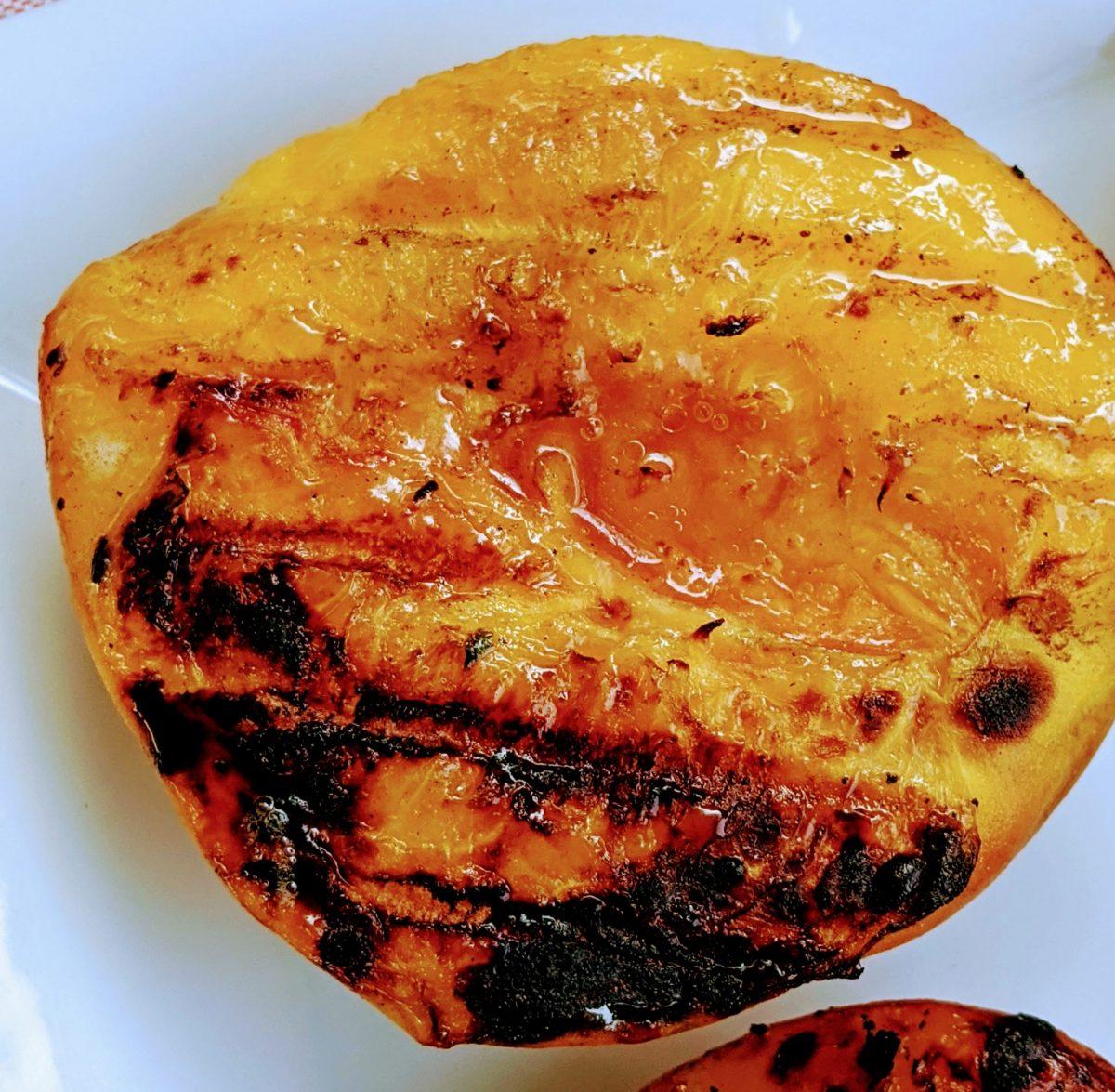 juicy grilled peach