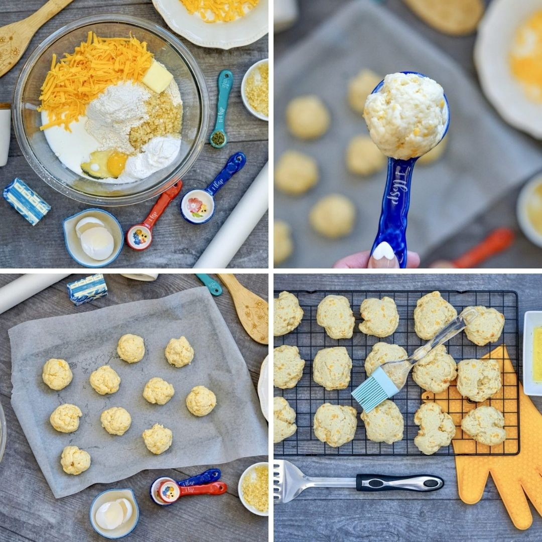 step by step instructions for cheddar bay biscuits