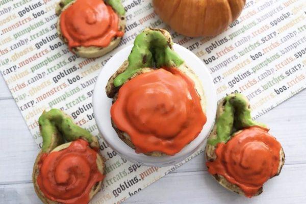 pumpkin shaped cinnamon rolls