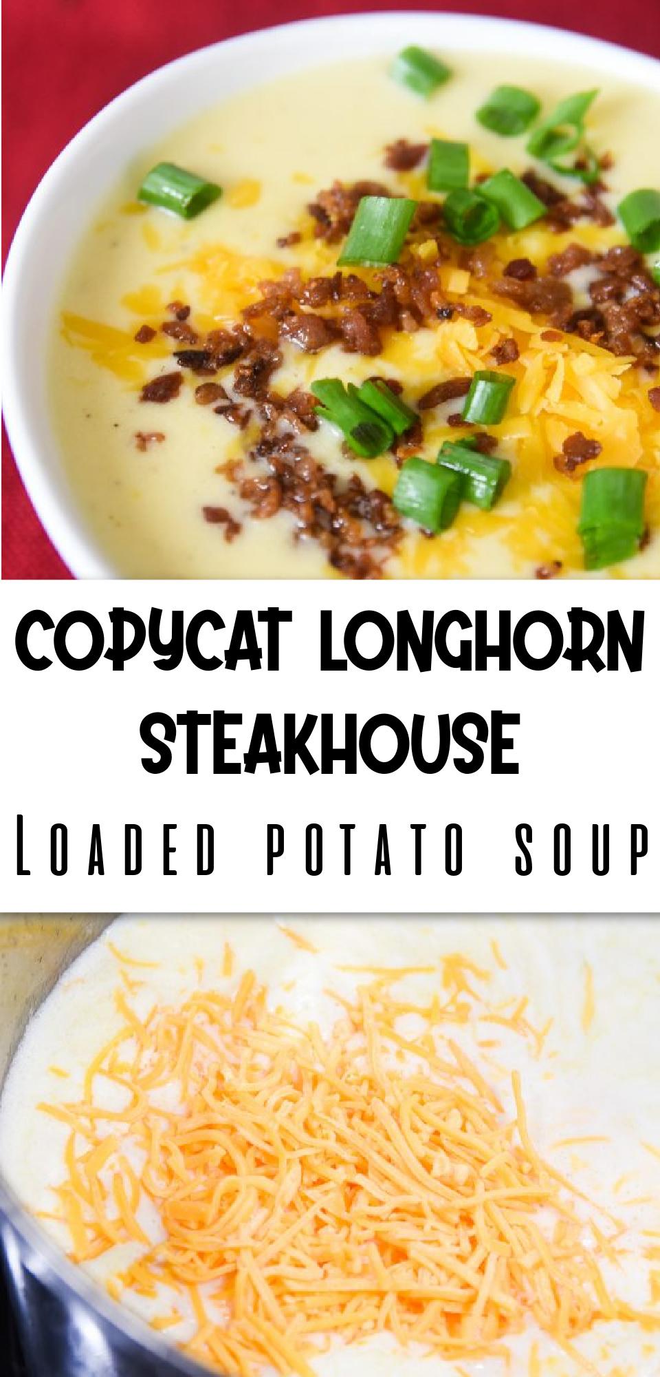 The Best Copycat Longhorn Steakhouse Loaded Potato Soup via @simplysidedishes89