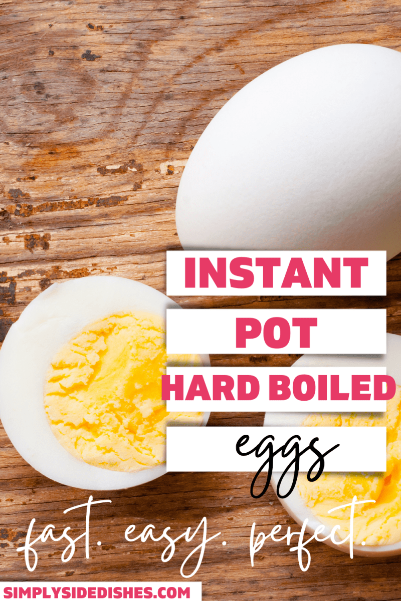 If you are looking for the BEST way to make hard-boiled eggs in a jiffy, you've come to the right place. Instant Pot hard-boiled eggs are a fantastic way to make fool-proof eggs for any occasion! via @simplysidedishes89