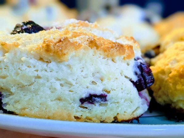 fluffy blueberry biscuits