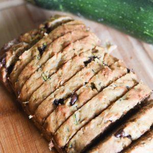sliced sourdough zucchini bread