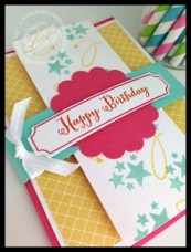 Fancy Fold Birthday Card- www.SimplySimpleStamping.com