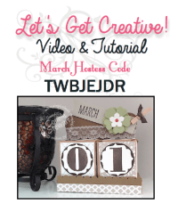 "March's ""LET'S GET CREATIVE"" video & tutorial"