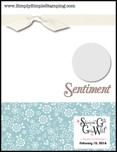 Stampin' Gals Gone Wild Weekend Challenge for February 12, 2016 - check it out at www.SimplySimpleStamping.com