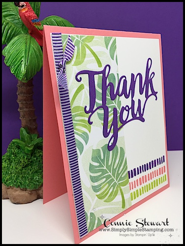 MAKE IT MONDAY FREE TUTORIAL - A Big Thank You card - download the FREE tutorial at www.SimplySimpleStamping.com - look for the July 23, 2018 blog post!