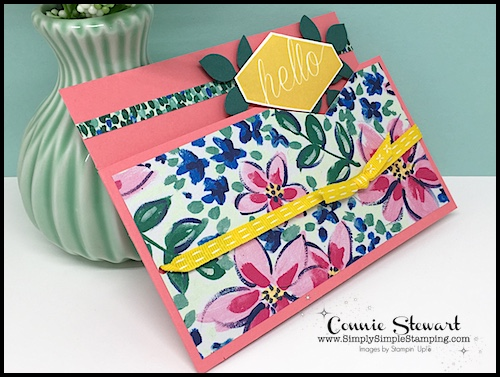 MAKE IT MONDAY FREE TUTORIAL - Hello card - download the FREE tutorial at www.SimplySimpleStamping.com - look for the July 30, 2018 blog post!