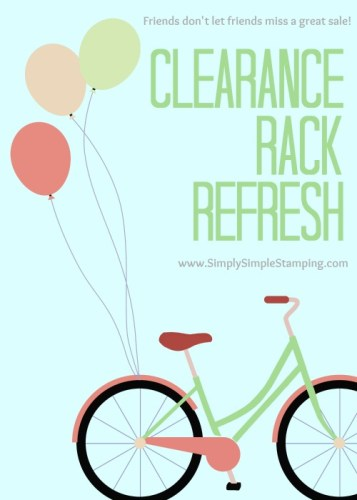 Stampin' Up! Clearance Rack Refresh Alert!! New Items have been added to the Clearance Rack! Check them out at www.SimplySimpleStamping.com!