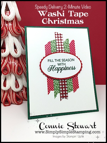 Washi Tape Christmas Card | SPEEDY DELIVERY by Connie Stewart